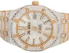 Mens 41 MM Audemars Piguet Royal Oak 18k Rose Gold with VS diamond (36.25 Ct)