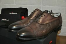 Authentic New Kiton Brown Calfskin Cap Toe Oxfords Shoes,size UK7/US8