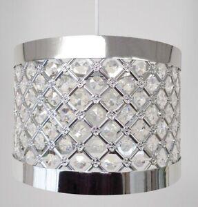 Moda Gems Design Silver Chandelier Style Ceiling Pendant Light Lamp Shade New