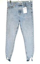 Topshop JAMIE High Rise Light Blue Super Skinny Stretch Jeans 12 W30 L28 PETITE