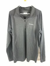 Columbia Omni-Shade Mens Gray Long Sleeve 1/4 Zip Pullover Size L