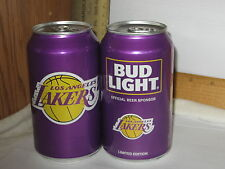 Los Angeles Lakers Purple Bud Light Limited Edition 3 bottom opened beer cans