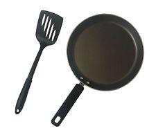 Prestige 21348 Aluminium 24 Cm Crepe Pan And Turner Set 2-Piece - Black
