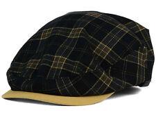 Kangol Ivy Flexfit Carat Plaid Black Gold K5057HW Hat Cap size L/XL