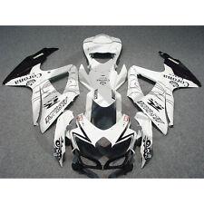 White Crown Injection Fairing For Suzuki GSXR600 GSX-R 750 2008-2010 2009