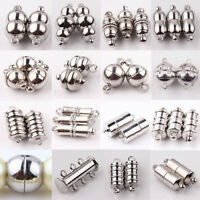 10sets Silver Plated Magnetic Clasps Hooks For Bracelet Necklace Jewelry Finding