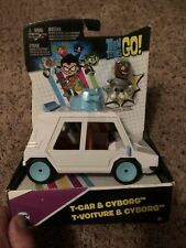 🔥 Teen Titans Go! T-Car Vehicle & Cyborg Figure Set Brand New In Package Rare