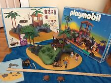 PLAYMOBIL pirate Turtle Cove Desert Island 3799 Complete Box Instructions HTF