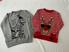 NEXT Christmas Jumper and Top, Boys Age 5-6