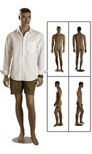 "New Retails Round Based Fiberglass Full Body Ethnic Male Mannequin 6'1"" Tall"