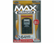 PLAYSTATION 2 MEMORY CARD 64 MB DATEL BRAND + 10 RETRO GAMES ON CD MULTILANGUAGE