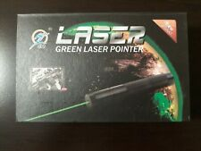 Class IIIB Green Laser Pointer With Case, Rechargeable Battery, and Wall Charger