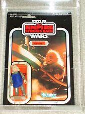 Vintage Star Wars KENNER 1980 AFA 80/85/85 UGNAUGHT ESB 41 Back-E card MOC!