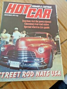 Hot Car Magazine November 1979 Classic Cars Trucks And Rods Collectable Item