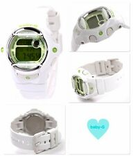 BG-169R-7C White Green Digital Casio Baby-G Watches Lady Resin Band Full Packy