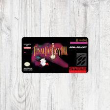 Étiquette SNES / Sticker : Final Fantasy III