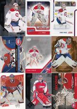 CAREY PRICE  a lot of 9 DIFFERENTS CARDS INSERTS  pinnacle  lot 5