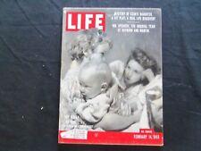 1955 FEBRUARY 14 LIFE MAGAZINE - PHOTOGRAPHER'S FAMILY - L 942