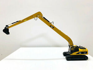 Caterpillar Cat 320D Long Boom Excavator Yellow 1:50 Scale Engineering Vehicles