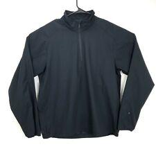 Zero Restriction Mens Quarter Zip Golf Wind Rain Pullover Black Large