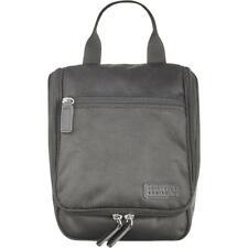 Perry Ellis Portfolio Mens Ballistic Black Faux Leather Travel Kit O/S BHFO 9045
