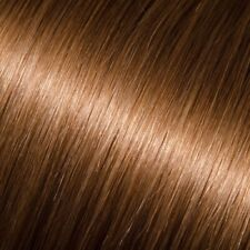 "18"" #8 Chestnut Brown Straight Stick Tip Human Hair Extensions Pre-bonded NEW"