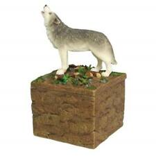 Westland Giftware Standing Howling Wolf On Rock Box Candle Holder Figurine