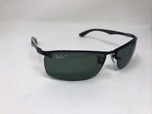 Ray Ban Sunglasses RB8315 002/9a Black Carbon Tech Green Polarized Lens IE85