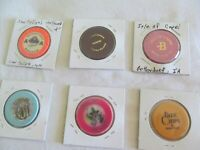 LOT OF 6  REAL  CASINO CHIPS,; LOT # 6