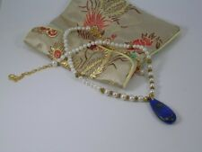Lapis Lazuli & Cultured Freshwater Pearl Necklace