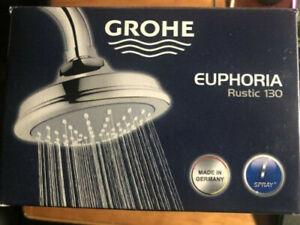 GROHE Euphoria Rustic130mm Mono Head Shower Spray Chrome 28737000 NEW!!!