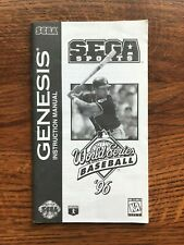 World Series Baseball 96 1996 Sega Genesis Game Instruction Manual Only