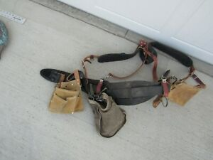 OCCIDENTAL LEATHER SUSPENDERS WITH TOOL POUCHES