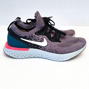 Nike Epic React Flyknit GS 6Y Grey Black Pink Kid Youth Running Shoes 943311-010