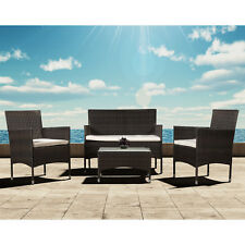Polyrattan Lounge Gartenmöbel Lounge Garternset Sitzgruppe Rattan Poly Braun Top