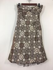 Speechless Dress Junior Size 13 Brown Halter Geometric A Line