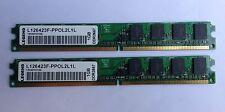 2GB LEGEND RAM DDR2 667MHz SDRAM (2 by 1 GB) DESKTOP 240 PIN HP P/N 377726-888