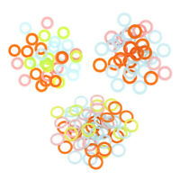 300Pcs Colorful Knitting Stitch Markers Crochet Locking Tool Craft Ring Marker