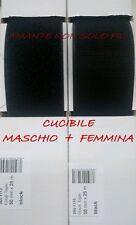 1 metro velcro strappo da cucire altezza 5 cm NERO - COMPLETO Maschio+Femmina
