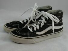 Vans Black High Top Lace-up Shoes Womens 6 Youth 4.5 Off the Wall Sneakers