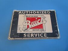 metal tin auto classic car gm buick dealer authorized sales service sp80027