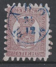 Finland - 1866, 3p Deep Brown/Grey stamp - Vertically Laid Paper - F/U - SG 28