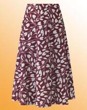 Ladies Panel Skirt L 25 in Plus Size 22 UK Simply Be Flower Leaf Print Wine Red