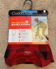 Nwt Boys Cuddl Duds Red Plaid Thermal Base Layer Set, Size L(12/14)
