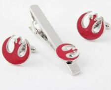 STAR WARS RED REBEL ALLIANCE TIE CLIP AND CUFFLINK SET