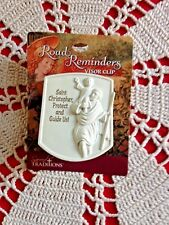 """Auto Visor Clip """"ST. CHRISTOPHER PROTECT & GUIDE US"""" Metal Clip, *NEW* Awesome!"""