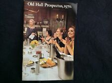 VINTAGE 1970 OLD HALL ADVERTISING PRODUCTS  CATALOGUE VGC