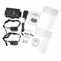 inground dog pet electronic fence system with1 2 3 waterproof shock collars