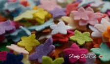 Mini Felt Flowers, die cut Floral Craft Embellishments
