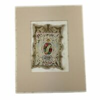 Antique Victorian Sweet Remembrance Card Cutwork Paper Lace German Dresden 5 x 7